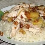 Xôi gà thơm vị dừa