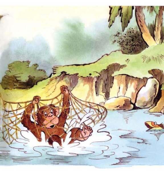 con khỉ và người đánh cá 12