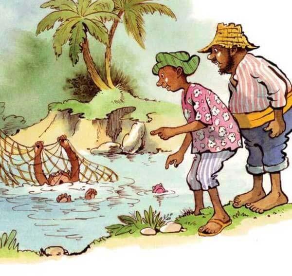 con khỉ và người đánh cá 13