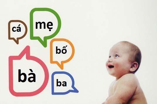 trẻ tập nói