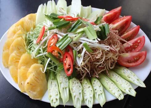 So chế nguyên liệu nấu canh chua đơn giản