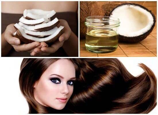 chữa rụng tóc sau sinh với dầu dừa