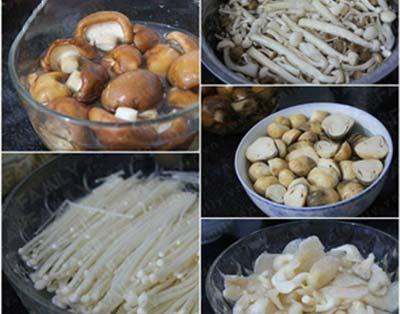 nguyên liệu nấu lẩu nấm