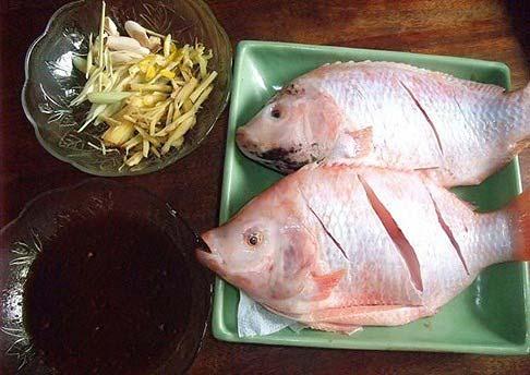 cá điêu hồng hấp xì dầu