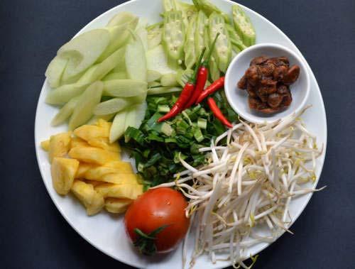 nguyên liệu nấu canh chua