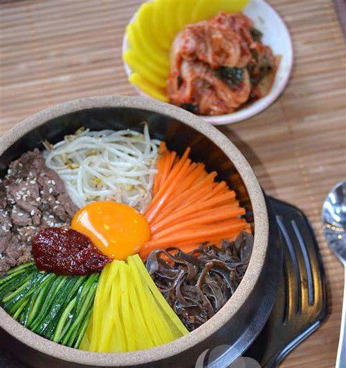 Cơm trộn Hàn Quốc đã xong