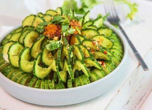 Cách làm salad dưa chuột