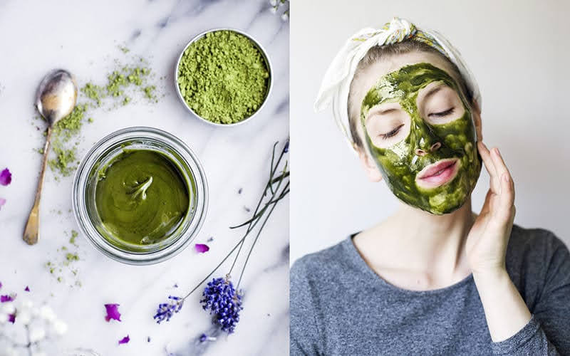 cách làm bột trà xanh đắp mặt nạ