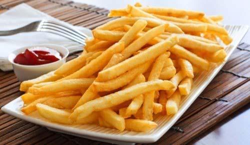 khoai tây chiên chín vàng giòn