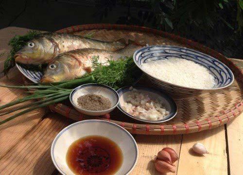 Nguyên liệu cần để nấu cháo cá chép