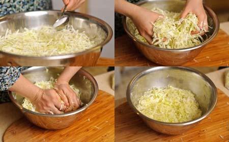 Bắp cải ngâm nước muối loãng 15 phút