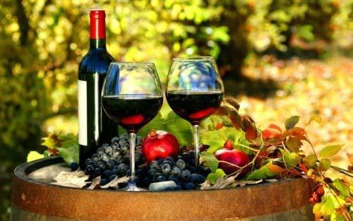 Rượu nho sau khi ủ lâu