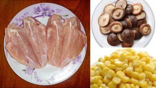 Nguyên liệu chính để nấu súp gà