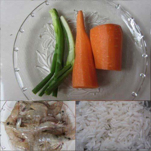 Nguyên liệu nấu cháo tôm cà rốt