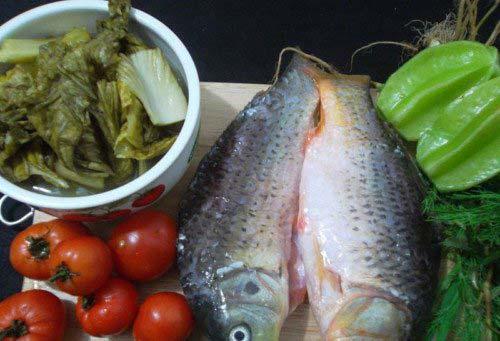 Nguyên liệu nấu riêu cá
