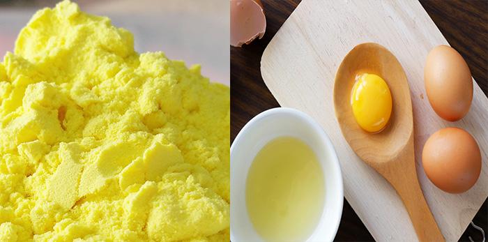 Mặt nạ trứng gà tinh bột nghệ