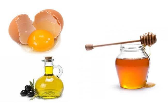 mặt nạ dưỡng da từ trứng gà mật ong dầu Olive