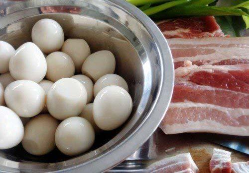 Nguyên liệu làm thịt kho trứng