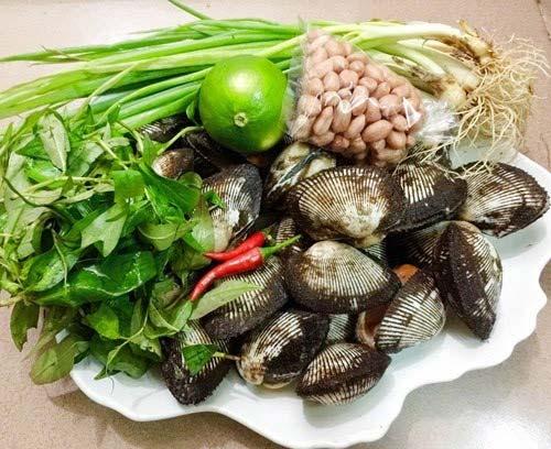 Nguyên liệu làm sò nướng mỡ hành