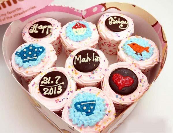 Hoàn thiện bánh cupcake theo sở thích