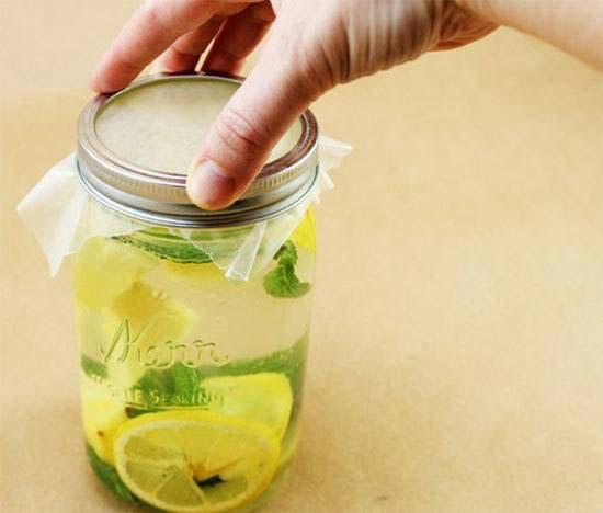 cách làm nước chanh dứa hương bạc hà.