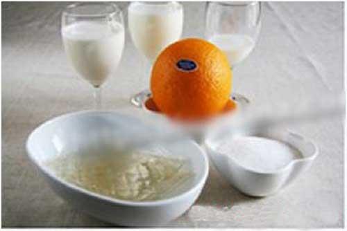 Nguyên liệu làm bánh pudding sữa chua cam