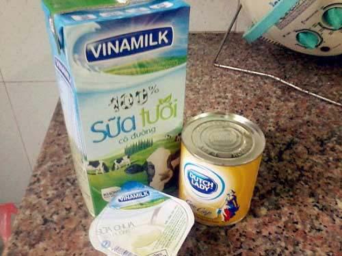 Nguyên liệu làm sữa chua túi