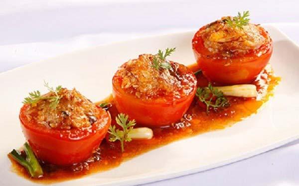 Cách làm cà chua nhồi thịt hấp