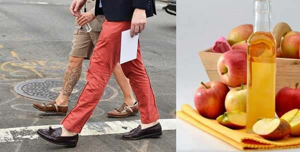 Khử mùi hôi giày bằng giấm táo