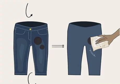cách tẩy vết cà phê trên quần jean