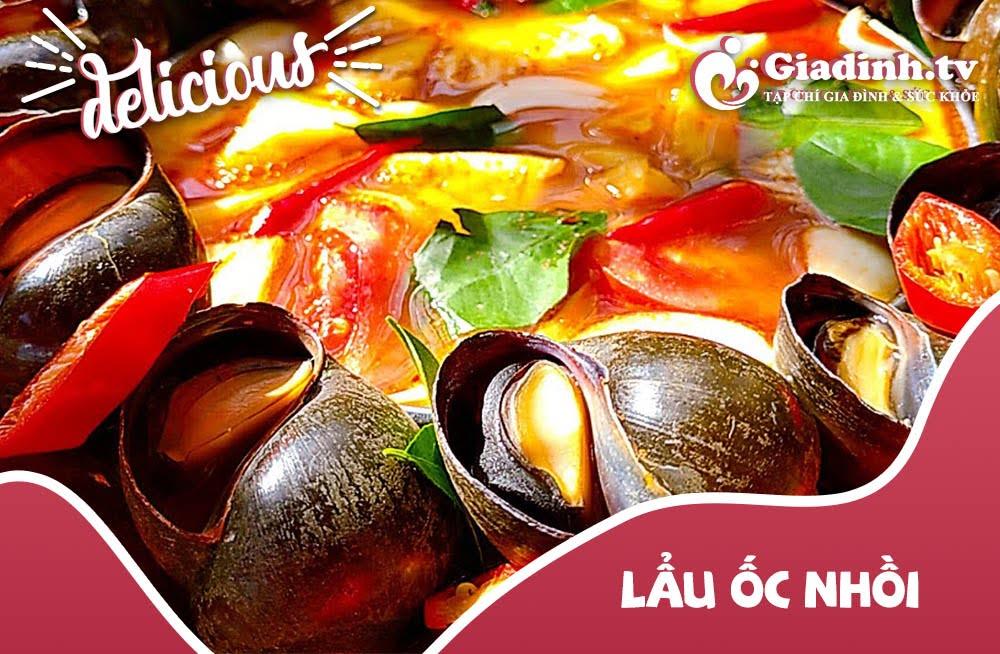 cách nấu lẩu ốc chuối đậu tía tô ngon
