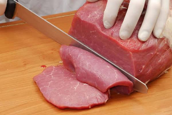 thái thịt bò lát mỏng