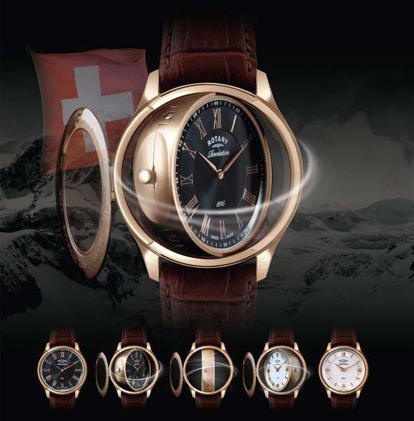 Đồng hồ Rotary siêu mỏng cho phái mạnh