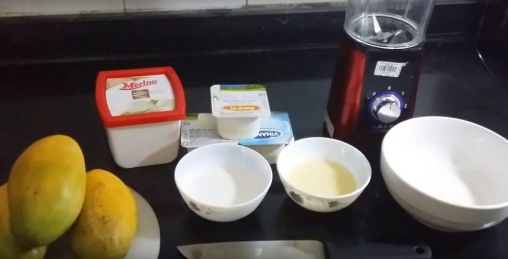 Nguyên liệu làm kem xoài