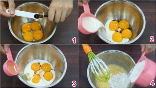 Bước 2 : Cách làm bánh bông lan bằng nồi cơm điện