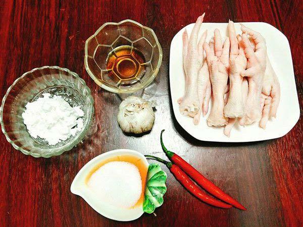 Cách làm chân gà chiên mắm : Nguyên liệu cần chuẩn bị