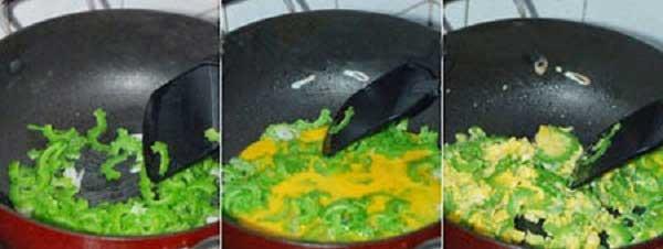 Cách làm mướp đắng xào trứng