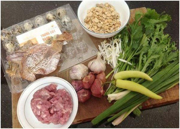 Cách nấu hủ tiếu nam vang - nguyên liệu cần chuẩn bị