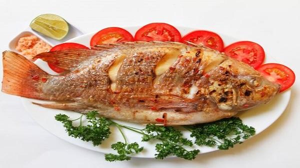 Cá chép giòn nướng muối ớt