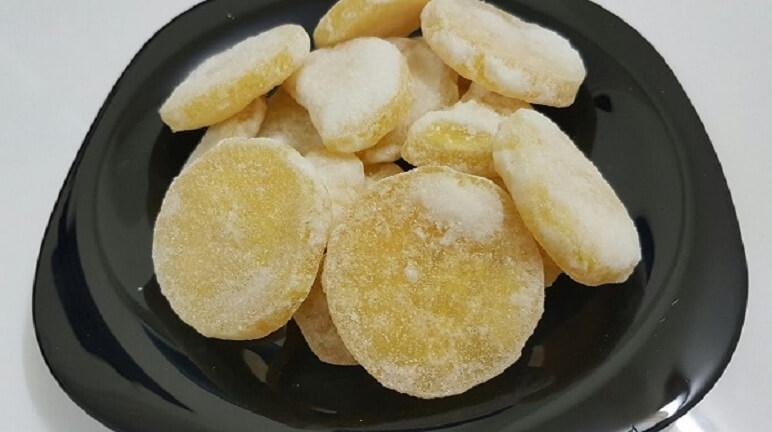 Cách làm mứt khoai tây nói không với nước vôi trong