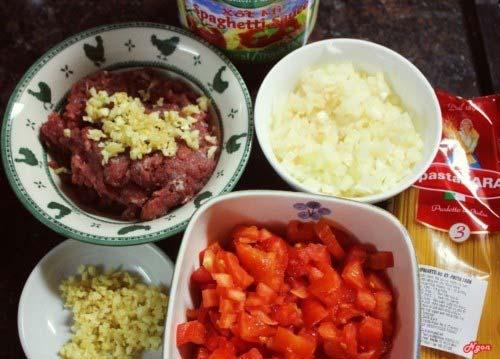 nguyên liệu cần để làm mỳ Ý