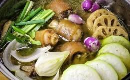 Cách làm món lẩu đuôi bò chua cay đơn giản những ngày đông