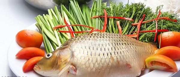 Nguyên liệu nấu lẩu cá chép giòn
