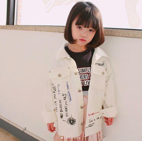 Tóc ngắn đáng yêu cho bé gái