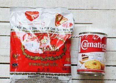 Nguyên liệu để làm trà sữa Thái đỏ