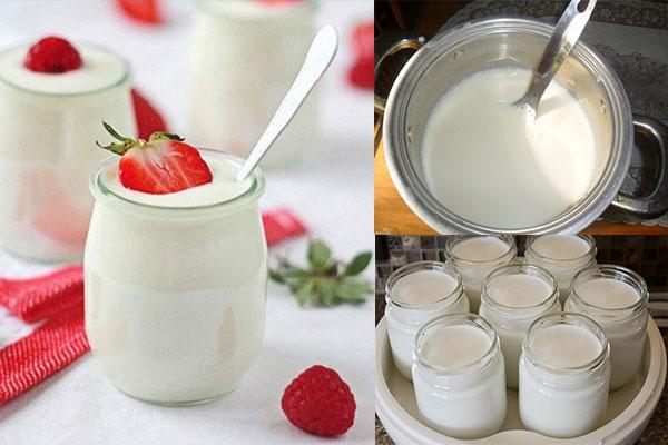 cách làm sữa chua bằng máy ủ