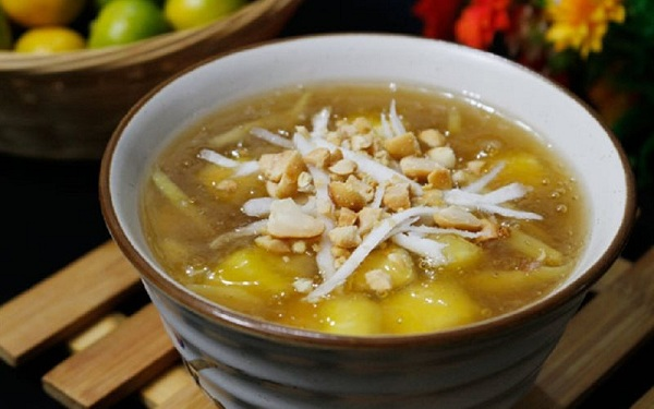 cách nấu chè khoai mì nước cốt dừa