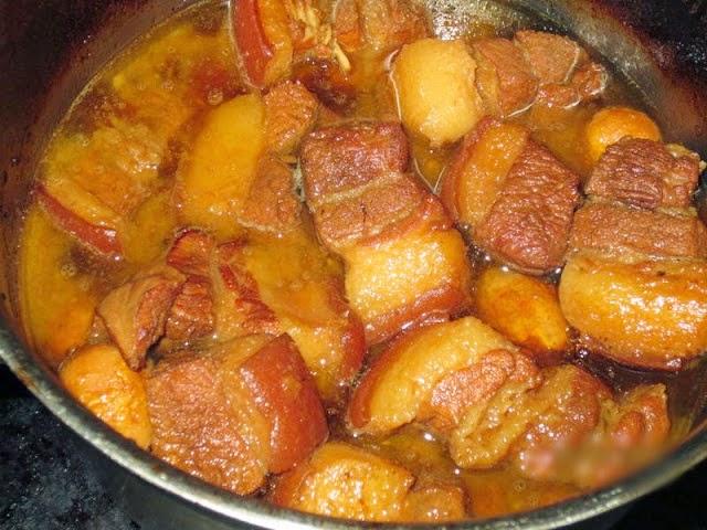 nấu thịt kho tàu không cần nước dừa