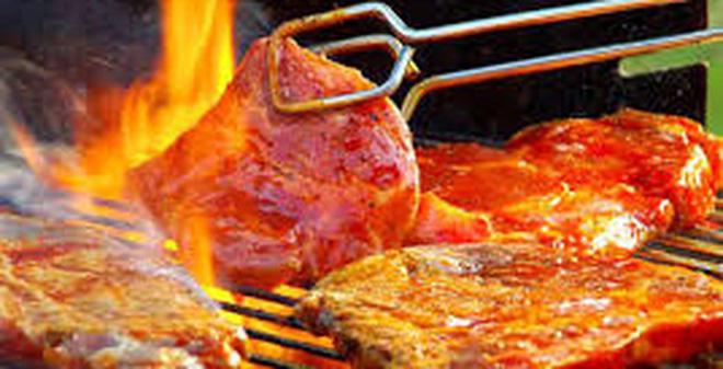 Thịt heo rừng nướng sa tế