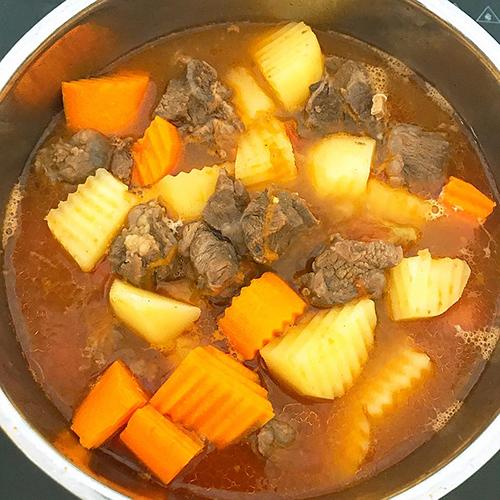 cách làm bò nấu đậu